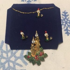 Christmas jewelry set Candles
